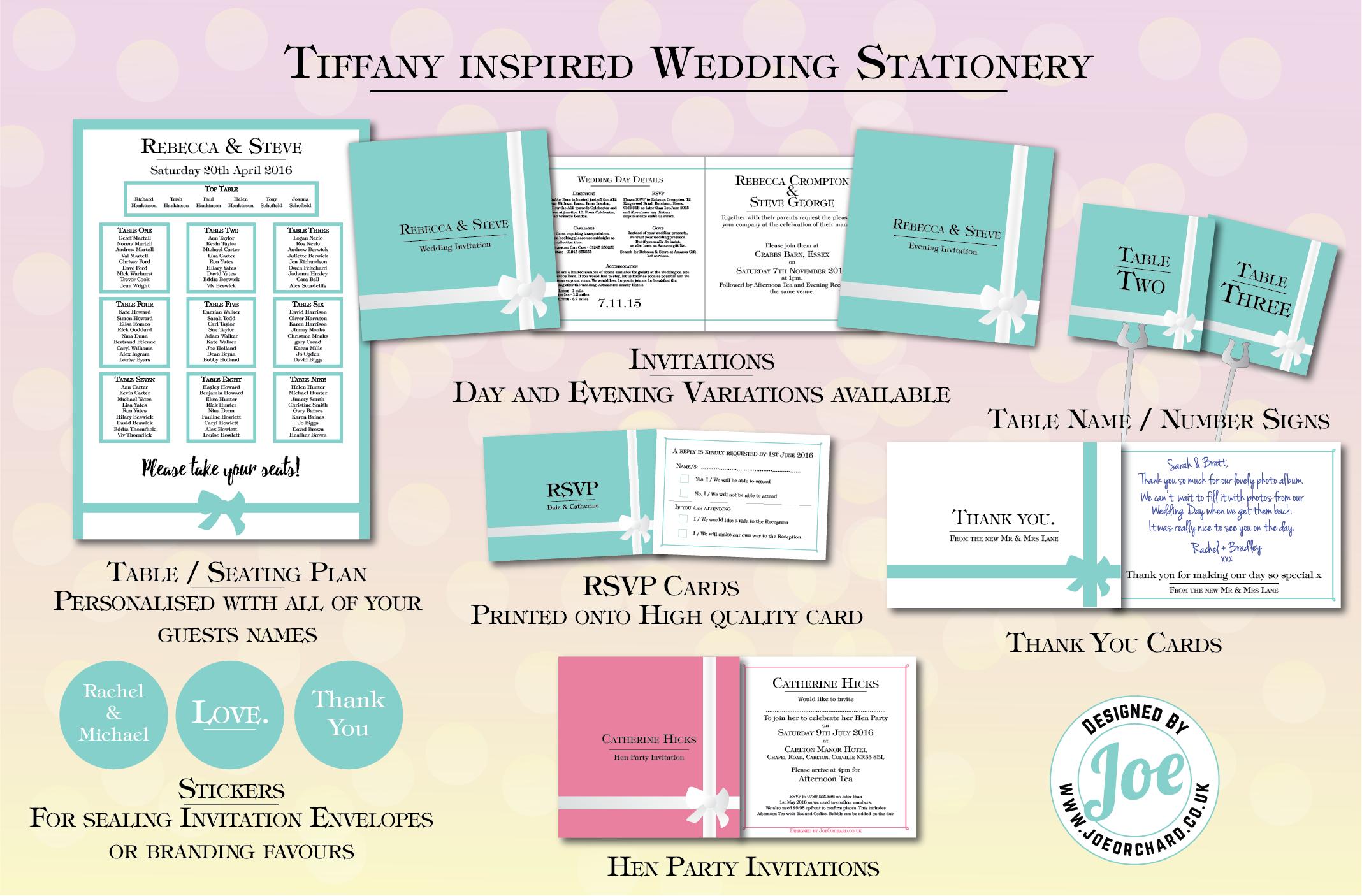 Wedding Stationery by Joe